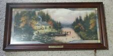 """Thomas Kinkade """"The end of a perfect day"""" lighted stained glass picture numbered"""