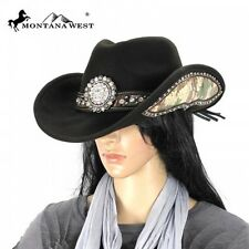 Montana West Cowgirl Collection Floral Concho Camo Print Hat