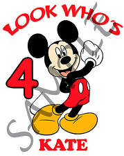Personalized Mickey Mouse Birthday T-Shirt Add Name
