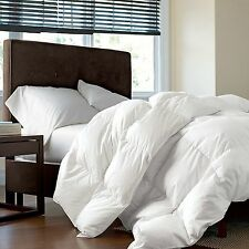 New Feathered Nest Bedding 700 Fill Duck Down Comforter 100% Cotton Light Weight