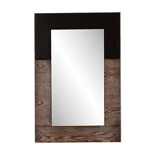 """Wooden Frame Vanity Mirror Decorative Hanging Wall Accent Decor Large 24"""" x 36"""""""