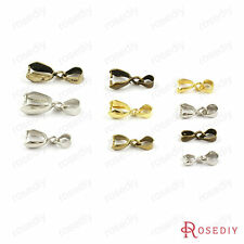 10~20PCS Brass Charms Clips Connector Necklace Clasps Jewelry Accessories 8530