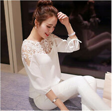 Ladies  Tops Long Sleeve Shirt Chiffon   Casual Blouse Loose Summer  Fashion