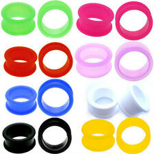 1 Pair Large Flare Soft Silicone Ear Skins Ear Gauges Soft Ear Plugs Ear Tunnels