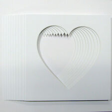 Pack of 10 Heart Shaped Photo Mounts 17x17cm to Fit  IKEA  23cm x 23cm  frames