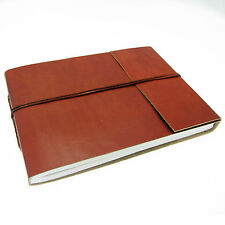 Fair Trade Handmade Medium Plain Leather Photo Album Scrapbook 2nd Quality