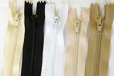 10 Quality Nylon Dress / Cushion / Skirt  Zips Zippers  Metal End Sewing Repair