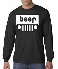 New Way 139 - Unisex Long-Sleeve T-Shirt Beer Jeep Funny Humor Drinking Party