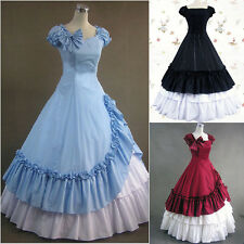 Newest Southern Belle Ball Gown Victorian Dress Adult Women Halloween Costume