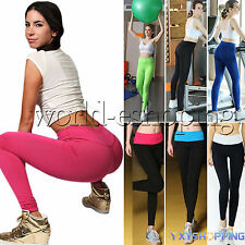 Women Sport Yoga Running High Waist Stretchy Trousers Leggings Fitness Gym Pants