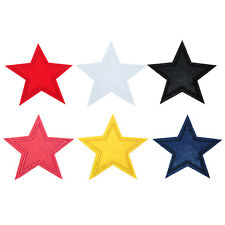 3/6 PCS Star Embroidered Iron on Applique Patch Fabric DIY New LE