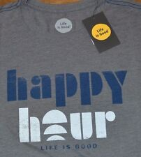 Life is Good T-Shirt HAPPY HOUR Authentic LIFE IS GOOD Tee Men Shirt MSRP $30.00