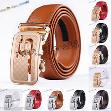 2017 HOT Men's Automatic Buckle Genuine Leather Belts Waist Strap Belt Waistband