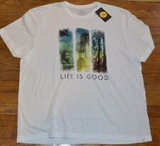 Life is Good T-Shirt White Authentic Tee Adult Men's Shirt MSRP $30.00