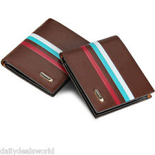 Mens PU Faux Leather Credit Card Holder Wallet Bifold ID Cash Coin Purse Clutch
