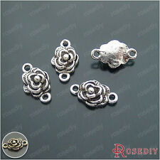 20PCS 15*10MM Zinc Alloy Flower Connector Charms Jewelry Accessories 21472