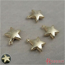 50PCS 10MM Zinc Alloy Star Charms Jewelry Findings Accessories 28227