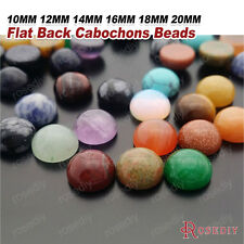 Natural stone & synthetic stone Flat Back Round Domed Cabochons Beads 27239