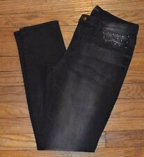 Rock & Republic Low Rise Skinny Jeans BULLET Black Jens w/ Stud Accents $88.00
