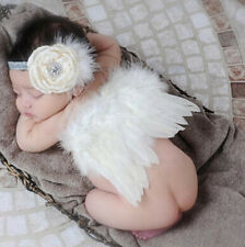 Photo Photography Angel Wings White Prop Outfits Girls Boys Baby Newborn Costume