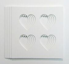 5 Pack of   4 Heart Shaped Photo Mounts to Fit  IKEA  23cm x 23cm  frames