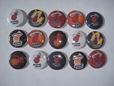 Miami Heat flat back buttons or pin badge cabochons embellishments bow centers