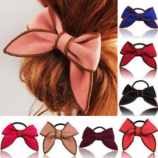 Hair Accessories Hairband Scrunchie Holder Hair Rope Satin Ribbon Ponytail Bow