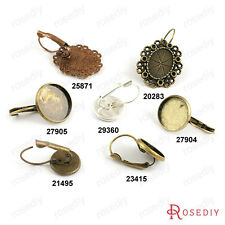 20PCS Alloy and Brass French Style Earring hook with Trays Findings 20283