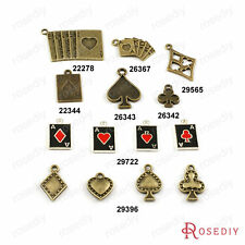 Zinc Alloy Play Card Charms Pendants Jewelry Findings Accessories 22278