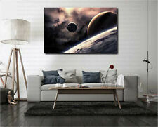 Planets in Solar System Space Canvas Art Poster Print Home Wall Decor