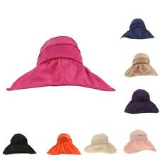Foldable Beach Outdoor Wide Brim Visor Sun Hats Fishing Hiking Cap Floppy Hat