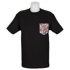 SP Quiet Life Clothing Jewel Pocket T-Shirt Black Liberty Fabric skate