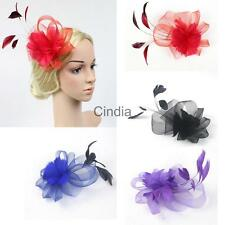 Wedding Bridal Ladies Prom Costume Feather Fascinator Hair Clip Headpiece Decor