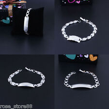 New Fashion Silver Plated Wrap Wristband Cuff Crystal Rhinestone Bracelet Bangle