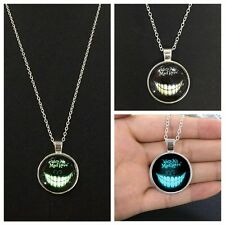 Valentine Gift Glowing in the Dark Devil Smile Attractive Pendant Necklace Cool