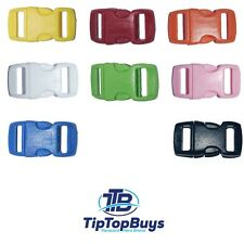 """Paracord Buckles 3 8"""" Colored Contoured Plastic Side Release, Crafts USA Seller"""