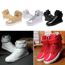 Men' Fashion Sport Sneakers Lace-up High top Casual Shoes Plus Size new #