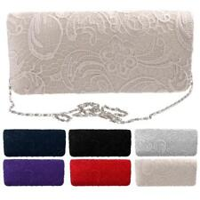 Wedding Bridal Fashion Party Purse Shoulder Clutch Bag Chain Handbag in 6 colors