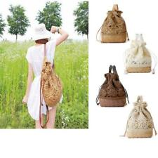 Women's Summer Boho Straw Weave Handbag Beach Tote Messenger Backpack Casual Bag