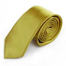 Stylish Mens 2'' Skinny Classic Tie Solid Plain Formal Casual Necktie Tie