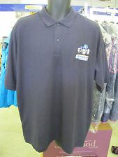 WORKWEAR NAVY POLO SHIRT EMBROIDERED NEW HOLLAND TRACTOR & LOGO (SS)