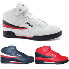 Mens KIDS Fila F13 F-13 Classic Mid High Top Basketball Shoes Sneakers
