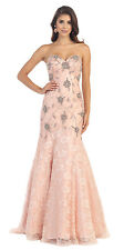 Prom Long Strapless Sweetheart Beaded Sequins Lace Ballgown Mermaid Style Dress