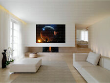 Planet Collapse Space Fantasy Canvas Art Poster Print Home Wall Decor
