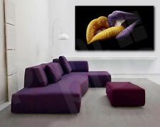 Abstract Yellow and Purple Lips Modern Canvas Art Poster Print Wall Decor