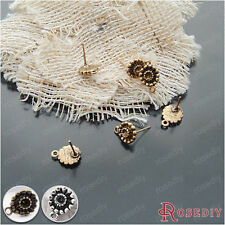 20PCS Alloy and Steel Needle Stud Earring Jewelry Findings Accessories 19878