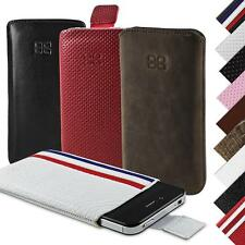 iPhone 4S 4 Cover REAL LEATHER Pouch Case Mobile Bouletta Partaw