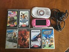 Pink Sony PSP Console + Games Bundle