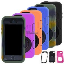 For iPhone 5s/5/5C Rugged Rubber Matte Hard Case Cover Screen Protect 360° WT88