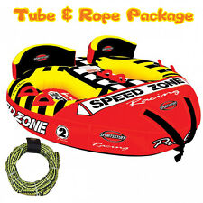 Sports Stuff Speedzone 2 Towable Ski Tube Inflatable Biscuit Boat Ride + 2 Perso